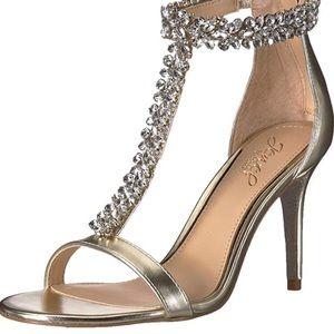 Badgley Mischka jewel bridal shoes size 8 NIB